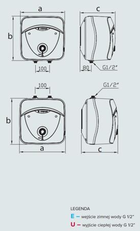ANDRIS 6 LUX 6UR Elektryczny pojemnościowy podgrzewacz wody