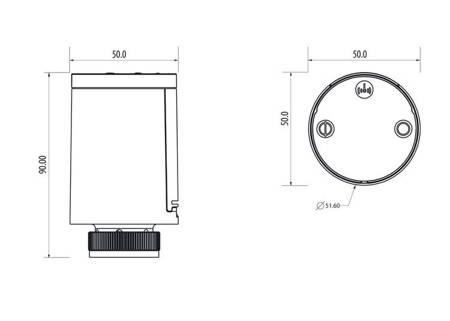 Bezprzewodowa głowica termostatyczna ZigBee - M30x1,5, 2xAA