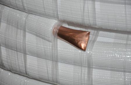 """COOLEO - Rura  miedziana  z izolacją 12,70x0,80mm 1/2"""" 25m"""