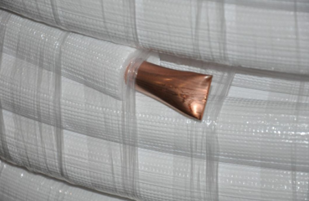 """COOLEO - Rura  miedziana  z izolacją 6,35x0,80mm 1/4"""" 25m"""