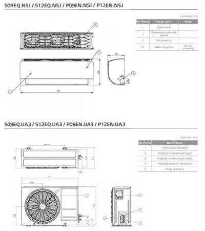 LG - Klimatyzator ścienny STANDARD  5,0 kW S18EQ