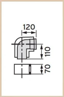 VAILLANT - Kolano koncentryczne 87 st  80/125  PP
